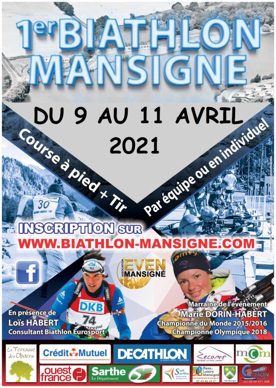 Affiche biathlon 2021